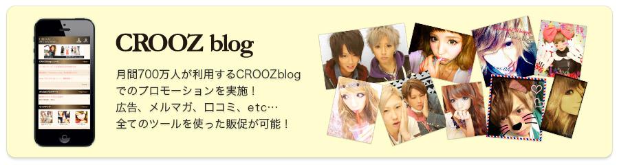 月間700万人が利用するCROOZblogでのプロモーションを実施!広告、メルマガ、口コミ、etc…てのツールを使った販促が可能!