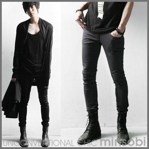 Men Skinny Jeans Black