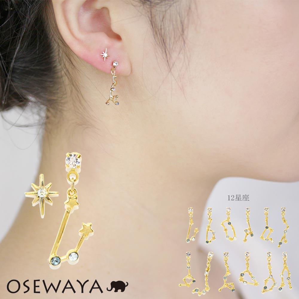 ピアス ニッケルフリー 12星座[品番:OW000004733]|osewaya(オセワヤ ...