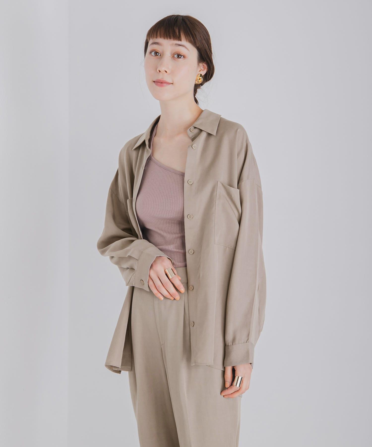 レディースファッション通販テンセル(TM)リヨセル バックスリットシャツ