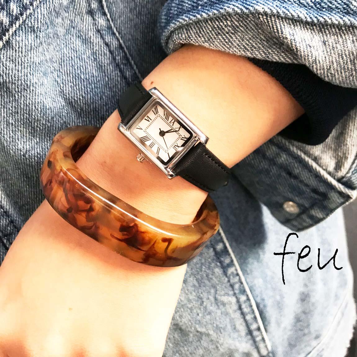 feu【腕時計×ブレスレットの簡単コーデ】