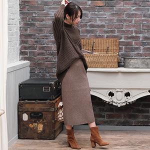 ほっこり大人かわいい冬スタイルに。人気ニットスカート特集