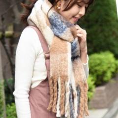 冬の必需品☆フリンジ大判マフラー☆ NOFALL sango