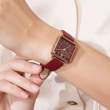 【JULIUS】秋色★スクエア腕時計