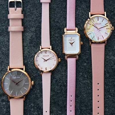 大人に似合う!桜いろの腕時計